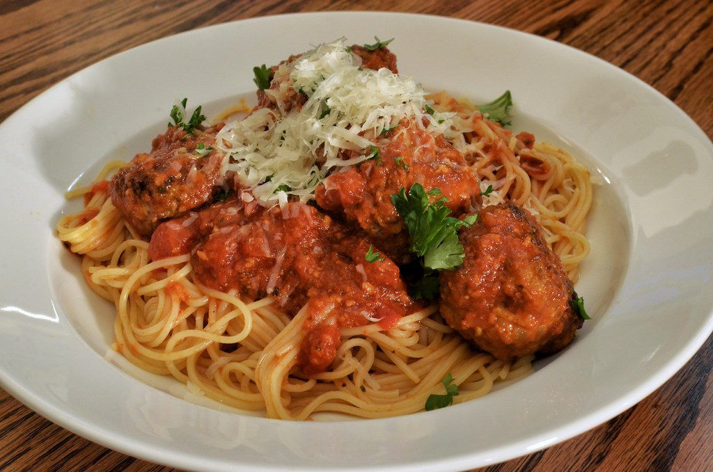 Italian Meal - Spaghetti and Meatballs