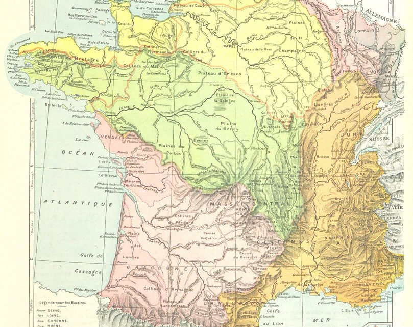 Map France Regions